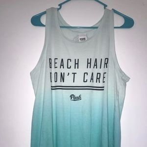 PINK beach hair dont care tank top